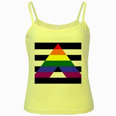 Straight Ally Flag Yellow Spaghetti Tank