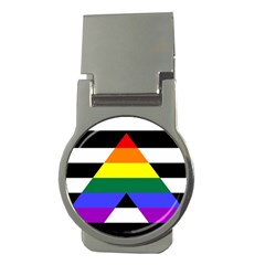 Straight Ally Flag Money Clips (round)