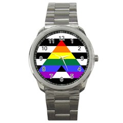Straight Ally Flag Sport Metal Watch