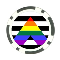Straight Ally Flag Poker Chip Card Guard (10 Pack)