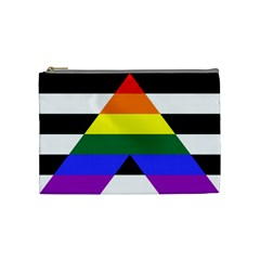 Straight Ally Flag Cosmetic Bag (medium)