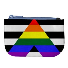 Straight Ally Flag Large Coin Purse