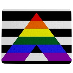 Straight Ally Flag Jigsaw Puzzle Photo Stand (rectangular)