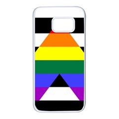 Straight Ally Flag Samsung Galaxy S7 White Seamless Case