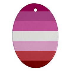 Lesbian Pride Flag Ornament (oval)