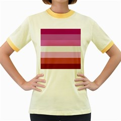 Lesbian Pride Flag Women s Fitted Ringer T Shirts