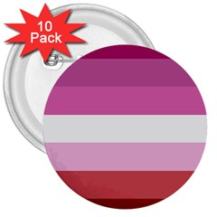 Lesbian Pride Flag 3  Buttons (10 Pack)