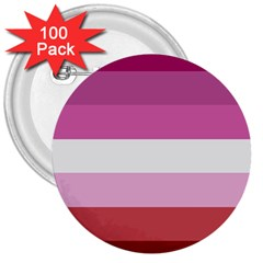 Lesbian Pride Flag 3  Buttons (100 Pack)