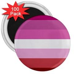 Lesbian Pride Flag 3  Magnets (100 Pack)
