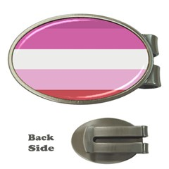 Lesbian Pride Flag Money Clips (oval)