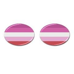 Lesbian Pride Flag Cufflinks (oval)