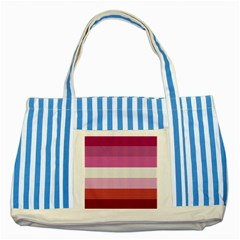 Lesbian Pride Flag Striped Blue Tote Bag
