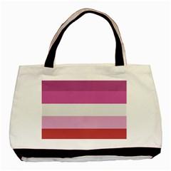 Lesbian Pride Flag Basic Tote Bag (two Sides)