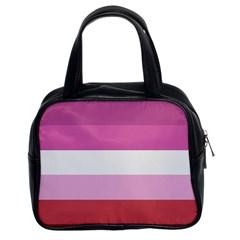 Lesbian Pride Flag Classic Handbags (2 Sides)