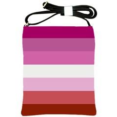 Lesbian Pride Flag Shoulder Sling Bags