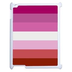 Lesbian Pride Flag Apple Ipad 2 Case (white)