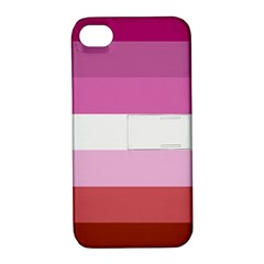 Lesbian Pride Flag Apple Iphone 4/4s Hardshell Case With Stand