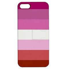 Lesbian Pride Flag Apple Iphone 5 Hardshell Case With Stand