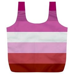 Lesbian Pride Flag Full Print Recycle Bags (l)