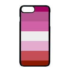 Lesbian Pride Flag Apple Iphone 7 Plus Seamless Case (black)