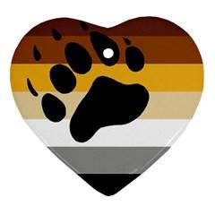 Bear Pride Flag Ornament (heart)