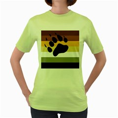 Bear Pride Flag Women s Green T Shirt