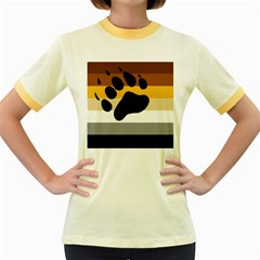 Bear Pride Flag Women s Fitted Ringer T Shirts