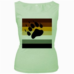 Bear Pride Flag Women s Green Tank Top