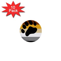Bear Pride Flag 1  Mini Buttons (10 Pack)