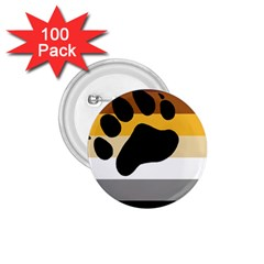 Bear Pride Flag 1 75  Buttons (100 Pack)