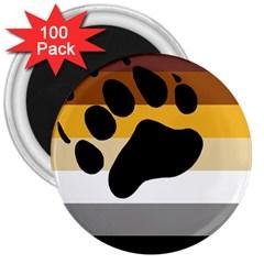 Bear Pride Flag 3  Magnets (100 Pack)