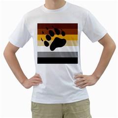 Bear Pride Flag Men s T Shirt (white) (two Sided)