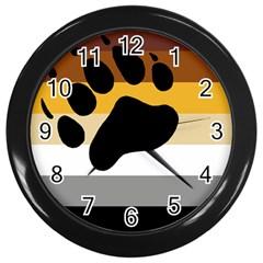 Bear Pride Flag Wall Clocks (black)