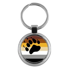 Bear Pride Flag Key Chains (round)