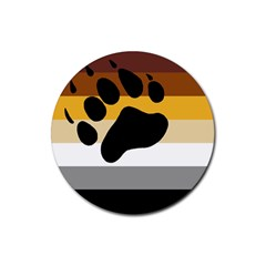 Bear Pride Flag Rubber Coaster (round)