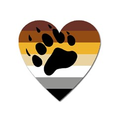 Bear Pride Flag Heart Magnet