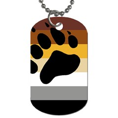 Bear Pride Flag Dog Tag (one Side)