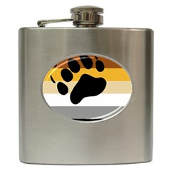Bear Pride Flag Hip Flask (6 Oz)