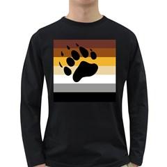 Bear Pride Flag Long Sleeve Dark T Shirts