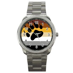 Bear Pride Flag Sport Metal Watch