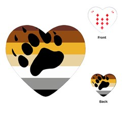 Bear Pride Flag Playing Cards (heart)