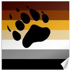 Bear Pride Flag Canvas 20  X 20