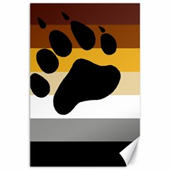 Bear Pride Flag Canvas 24  X 36