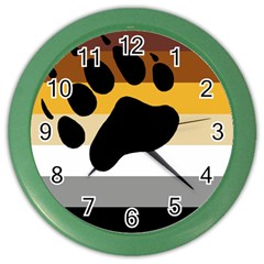 Bear Pride Flag Color Wall Clocks