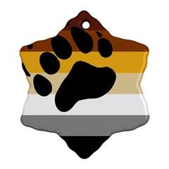 Bear Pride Flag Ornament (snowflake)