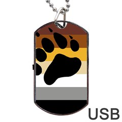 Bear Pride Flag Dog Tag Usb Flash (one Side)