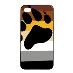 Bear Pride Flag Apple Iphone 4/4s Seamless Case (black)