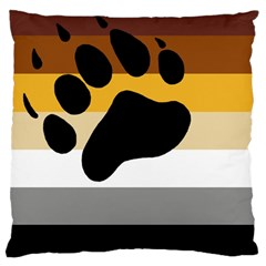 Bear Pride Flag Large Cushion Case (one Side)