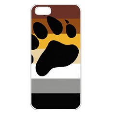 Bear Pride Flag Apple Iphone 5 Seamless Case (white)