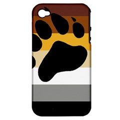 Bear Pride Flag Apple Iphone 4/4s Hardshell Case (pc+silicone)